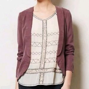Anthropologie Elevenses Whitby Lilac Blazer Jacket